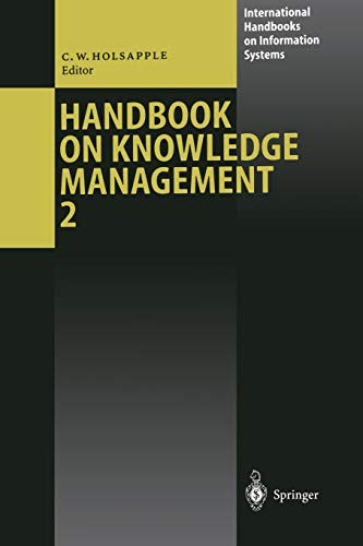 Handbook of Knowledge Management 2: Knowledge Directions