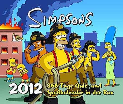 Simpsons Abreißkalender 2012: 366-Tage-Quizkalender 2012 - Spaßkalender in der Box