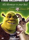 Der tollkühne Held + Shrek 3D + Shrek 2 (5 DVDs)