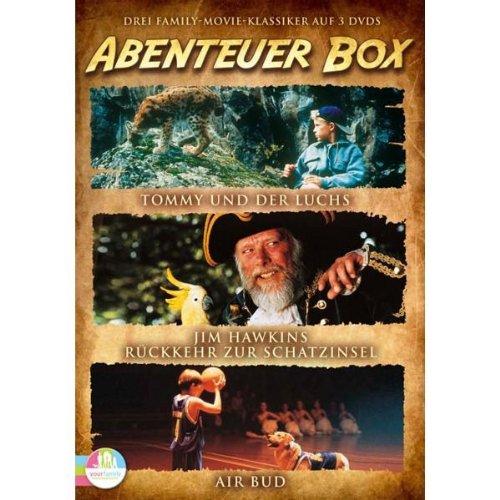 Die Abenteuer Box: Rückkehr zur Schatzinsel, Airbud, Tommy und der Luchs (3 DVDs)