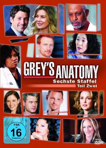 Grey's Anatomy - Die jungen Ärzte: Staffel  6, Teil 2 (3 DVDs)