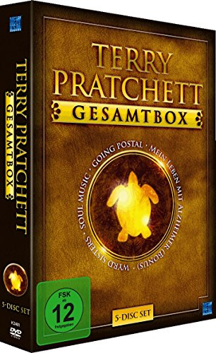 Terry Pratchett Gesamtbox (Going Postal, Soul Music & Wyrd Sisters & Doku 'Living with Alzheimer') (5 DVDs)