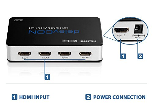 5 Port Premium HDMI Switch/Verteiler (automatisch)