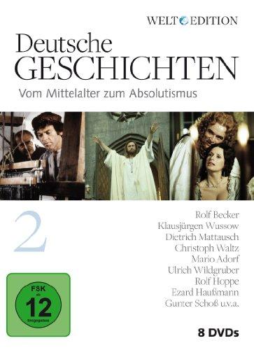 Deutsche Geschichten 2: Vom Mittelalter zum Absolutismus (8 DVDs)