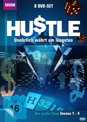 Hustle - Unehrlich währt am längsten: Der große Coup (Staffel 1-4) (8 DVDs)