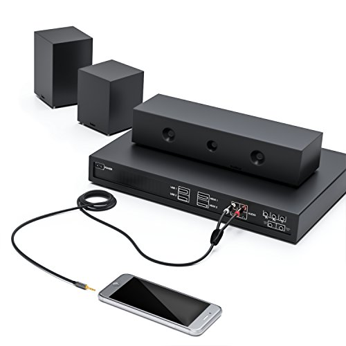 deleyCON PREMIUM HQ Stereo Audio Klinke zu 2x Cinch Kabel