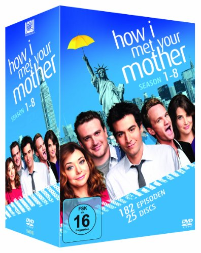 How I Met Your Mother Staffel 1-8 Komplettbox (25 DVDs)