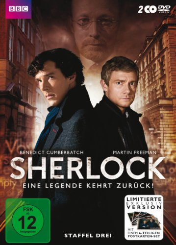 Sherlock Staffel 3 (Limited Edition inkl. Postkartenset) (exklusiv bei Amazon.de) (2 DVDs)