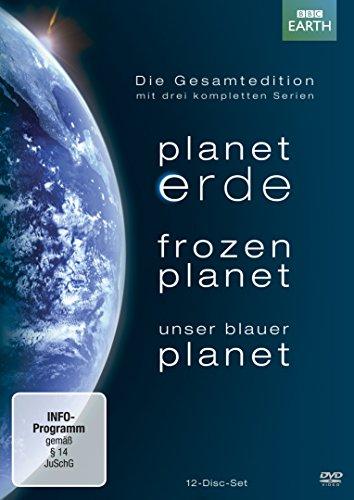 Planet Erde/Frozen Planet/Unser blauer Planet - Gesamtedition+Lentikularkarte & Lesezeichen (12 DVDs)