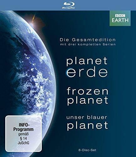 Planet Erde/Frozen Planet/Unser blauer Planet - Gesamtedition+Lentikularkarte & Lesezeichen [Blu-ray]
