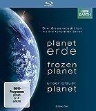 Planet Erde/Frozen Planet/Unser blauer Planet - Gesamtedition+Lentikularkarte & Lesezeichen (exklusiv bei Amazon.de) [Blu-ray]