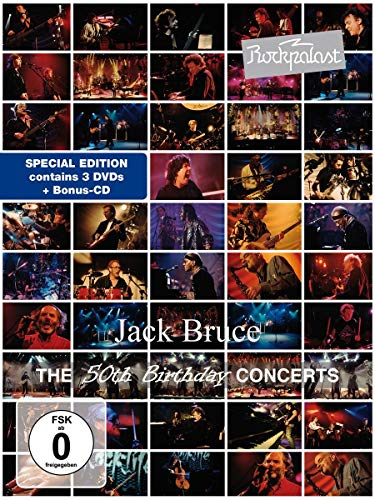 Jack Bruce - Rockpalast - The 50th Birthday Concerts (3 DVDs+CD)