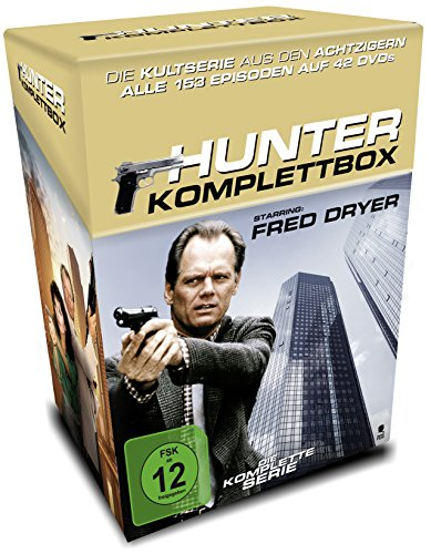Hunter Die Komplettbox (Cigarette Box mit Sammelkarten) (Limited Edition) (42 DVDs)