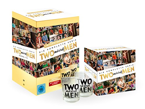 Two and a Half Men Komplettbox (Limited Edition inkl. 2 Whiskey Gläser) (40 DVDs)