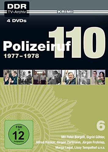 Polizeiruf 110 Box  6: 1977-1978 (DDR TV-Archiv) (Softbox) (4 DVDs)