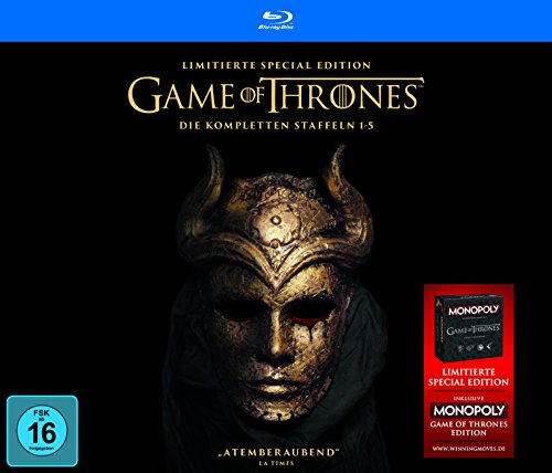 Game of Thrones Staffel 1-5  (Limited Edition mit Bonusdisc + Game of Thrones Monopoly) [Blu-ray]