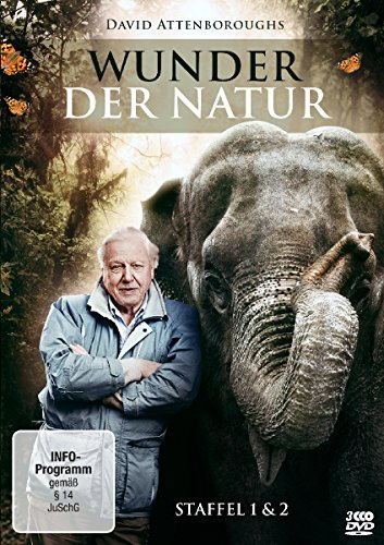 David Attenborough: Wunder der Natur - Staffel 1+2 (3 DVDs)