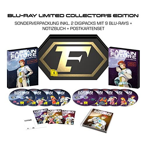 Captain Future Komplettbox (Limited Collector's Edition) (exklusiv bei Amazon.de) [Blu-ray]
