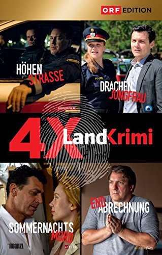 Landkrimi Set 3: Drachenjungfrau / Höhenstrasse / Sommernachtsmord / Endabrechnung (4 DVDs)
