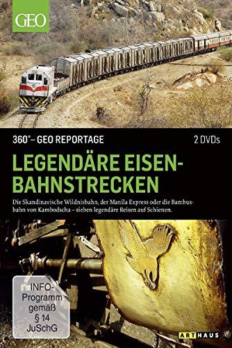 360° - Die GEO-Reportage: Legendäre Eisenbahnstrecken (2 DVDs)