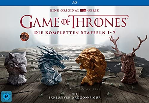 Game of Thrones Staffel 1-7 (Limited Edition mit Drogon Figur + Bonus Discs + Fotobuch + Conquest & Rebellion) [Blu-ray]