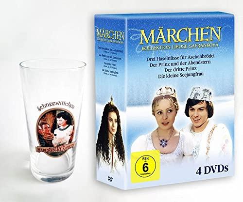 """Drei Haselnüsse für Aschenbrödel inkl. 6 Märchengläser """"Schneewittchen"""""""
