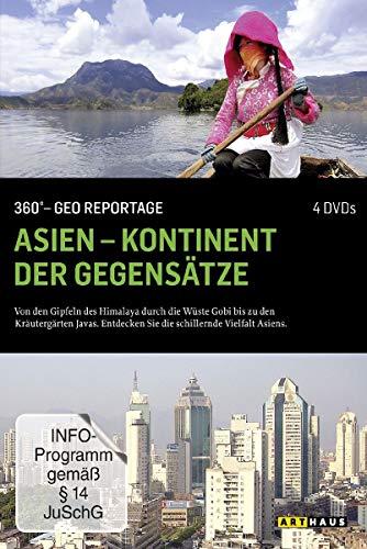 360° - Die GEO-Reportage: Asien - Kontinent der Gegensätze (4 DVDs)