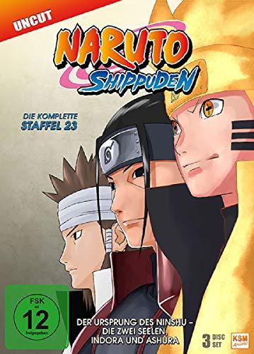 Naruto Shippuden Staffel 23: Der Ursprung des Ninshu - Die zwei Seelen, Indora und Ashura (3 DVDs)