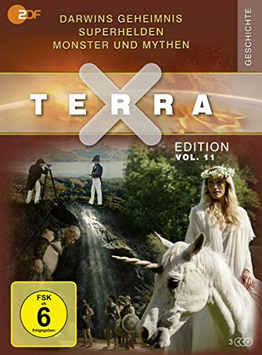 """Terra X - Edition, Vol. 11: Darwins Geheimnis / Superhelden / Monster und Mythen - inkl. Bonus """"Märchen und Sagen"""" (3 DVDs) Edition, Vol.11: Darwins Geheimnis / Superhelden / Monster und Mythen - inkl. Bonus """"Märchen und Sagen"""" (3 DVDs)"""