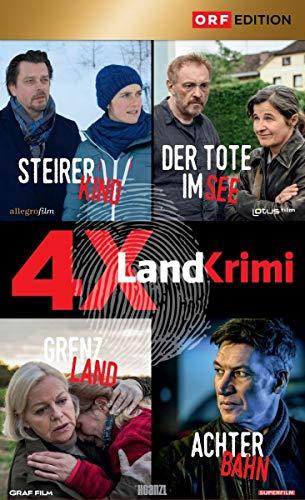 Landkrimi Set 4: Steirerkind / Der Tote im See / Grenzland / Achterbahn (4 DVDs)