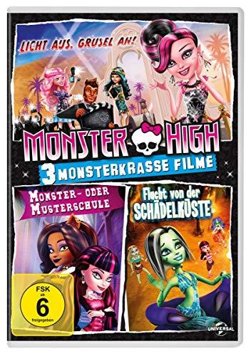 Monster High Licht aus. Grusel an! / Monster- oder Musterschule / Flucht von der Schädelküste (3 DVDs)
