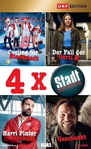 Stadtkomödien-Set 2: Curling für Eisenstadt/Der Fall der Gerti B./Harri Pinter Drecksau/Geschenkt (4 DVDs)