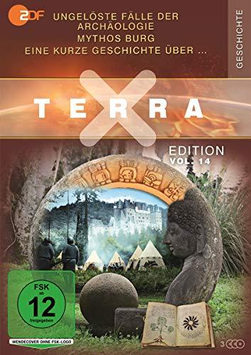 Terra X - Edition, Vol.14: Ungelöste Fälle der Archäologie / Eine kurze Geschichte über / Mythos Burg (3 DVDs)
