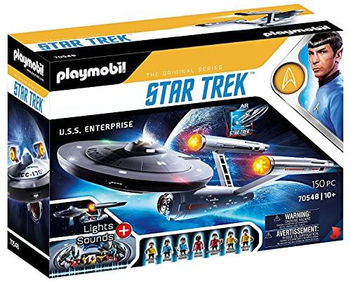 PLAYMOBIL Star Trek 70548 U.S.S. Enterprise NCC-1701, Mit AR-APP, Lichteffekten und Original-Sounds